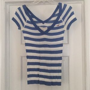 Blue/White Striped Sweater Hollister